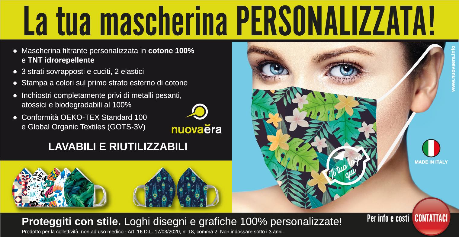 mascherine filtranti lavabili 100% personalizzate